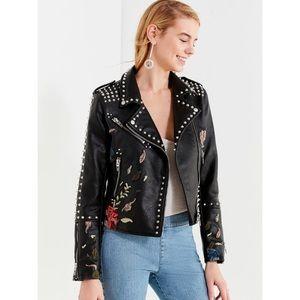 Studded BLANKNYC faux leather jacket